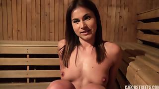 Czech Teenie drilled in the sauna