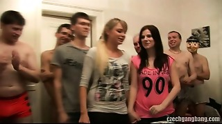 GIRLFRIEND AND HER SISTER Get Fucked AT CZECH GANG Gangbang