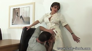 Lady Sonia receives screwed by husbands employee