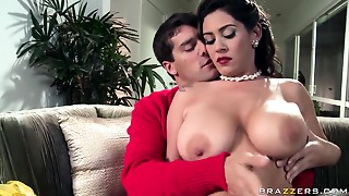 Ramon is glad to receive titsjob from seductive Lalin girl Raylene