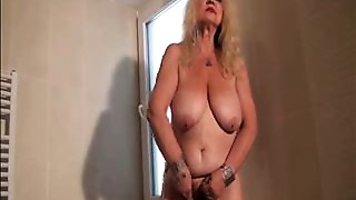 Grandmother Dana (66) strips and masturbates