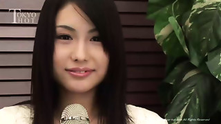 Japanese Cutie gets her bawdy cleft probed and drilled