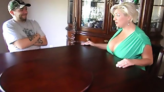 Golden-haired Mother Claudia Marie in a Three-some