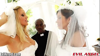 EvilAngel Francesca Le Interracial Butt Fucking Three-some