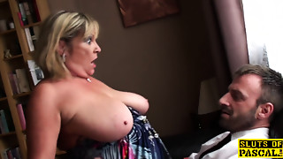 Big british s&m broad squirts during fucking
