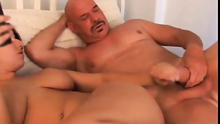 Cute fat chick enjoys a hard bang and a sticky facial
