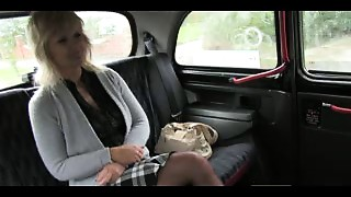 FakeTaxi Elder golden-haired mommy has the ride of her life