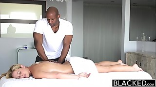 BLACKED Sexy Southern Golden-haired Takes Big Ebony Cock