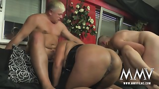 MMV FILMS German Amateur Aged Swingers party