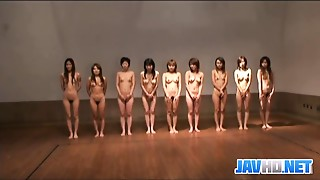 Stripped Japanese women