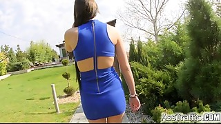 AssTraffic Young slut gal does fine job with ass to mouth anal job sex shag