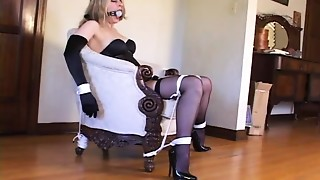 Thraldom with sexy stockings & high heels (black 6inch pumps)