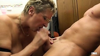 XXX OMAS - Obscene Germany grandmother takes ding-dong at the office