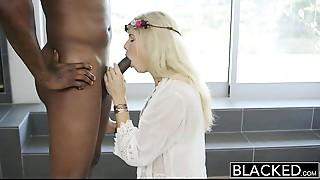 BLACKED Model Addison Belgium Squirts on Huge Swarthy Dick