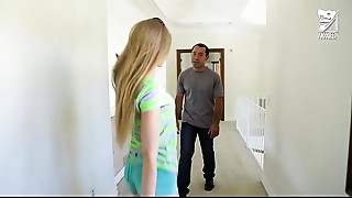 Mexican baby sitter copulates youthful young slut blonde Avril Hall!!!