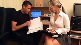 Sexually excited Secretary-Gangbang