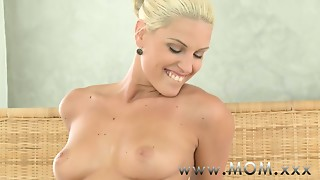 Mommy Concupiscent Golden-haired Mother I'd like to fuck craves his Jock