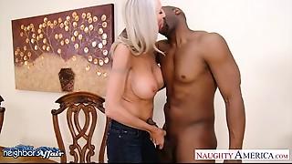 Breasty golden-haired Emma Starr take neighbor penis