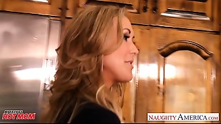 Chesty golden-haired mom Brandi Love take 10-Pounder