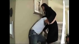 Mommy copulates her drunken son, and gets creampied