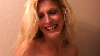 Sugar is a fascinating golden-haired MILF in high heels who loves to bang
