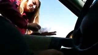 Cook jerking in car