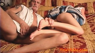 Young slut Babysitter USED by Mature Guy