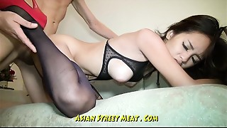 Undemanding Brown Eyed Oriental Anal sex dance