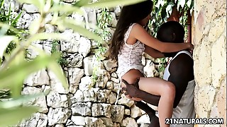 Biggest Ebony Knob Anal-copulation For Anita Bellini