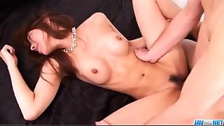 Serina Hayakawa plays with 2 rods in threesome porn