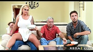 Mother-in-law Mother I'd like to fuck seduces her stepson with his dad right there