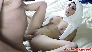 Arabian gal drilled and jizzed in face hole