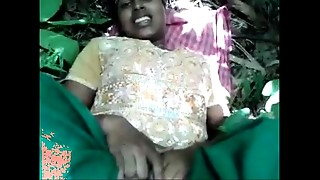 desi- girl drilled in forest