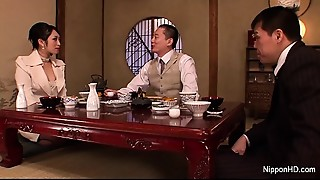 Japanese Business babe receives fucked