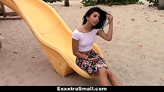ExxxtraSmall - Tiny Latin chick Brutally Screwed