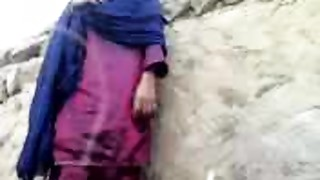 Pakistani Village Girl Fucking Hiding Against Wall