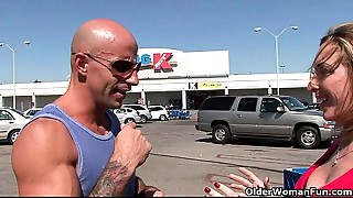 Breasty MILF Savannah Jane receives picked up from the mall for a screw fest
