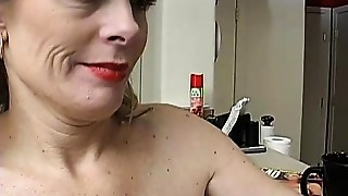 Super sexy older lady is so lewd she has to masturbate