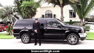 InnocentHigh - Schoolgirl Bonks Personal Driver