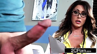 Tall Breasty Doctor Jessica Jaymes Milking Her Patient