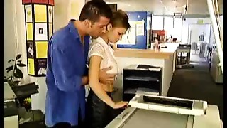 bigtitted russian cutie fucked at the photocopiers - nm17