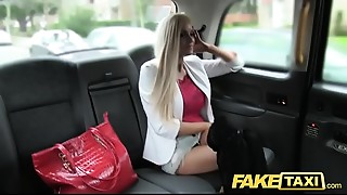 Fake Taxi skinny golden-haired with small ass gets a bit of butt dance sex and facial