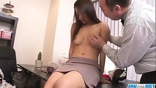 Oriental sweetheart Satomi Suzuki is ready to fuck her boss