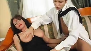 Superb Unshaved Older Squirts While Fucking Young Ding-dong