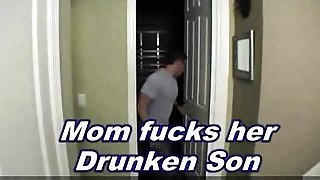 Mama fucks drunken son