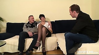 MMV FILMS Anal-copulation German babe