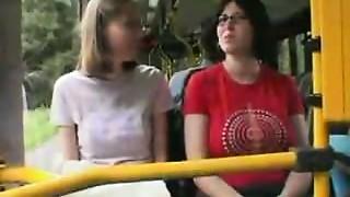 Oeffentlicher Nahverkehr ! Gangbang in a public Bus !