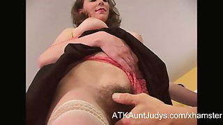 Unshaved Mother I'd like to fuck seduces a younger man