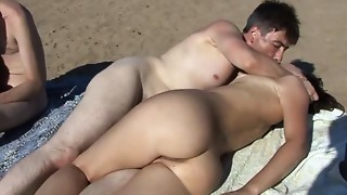 Stripped beach sex swingers
