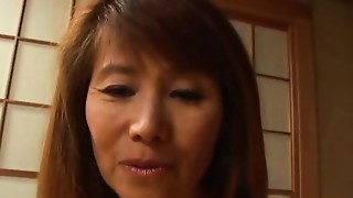Slim Aged Japanese Enjoy Gangbang
